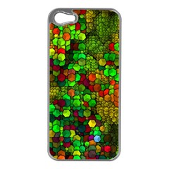 Artistic Cubes 01 Apple Iphone 5 Case (silver) by MoreColorsinLife