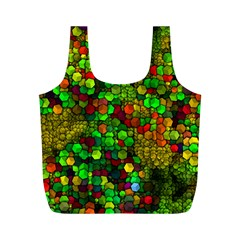 Artistic Cubes 01 Full Print Recycle Bags (m)  by MoreColorsinLife