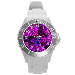 Artistic Cubes 2 Round Plastic Sport Watch (l) by MoreColorsinLife