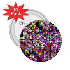 Artistic Cubes 3 2 25  Buttons (10 Pack)