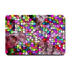 Artistic Cubes 3 Small Doormat  by MoreColorsinLife
