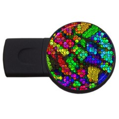 Artistic Cubes 4 Usb Flash Drive Round (2 Gb)  by MoreColorsinLife