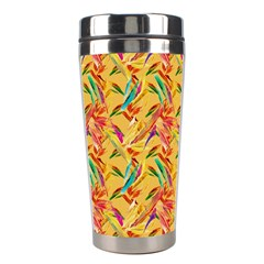 Abstract Hummingbird Pattern Stainless Steel Travel Tumblers by LovelyDesigns4U
