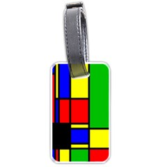 Mondrian Luggage Tag (two Sides) by Siebenhuehner