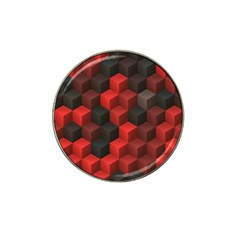Artistic Cubes 7 Red Black Hat Clip Ball Marker (10 Pack) by MoreColorsinLife