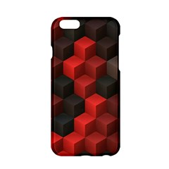 Artistic Cubes 7 Red Black Apple Iphone 6/6s Hardshell Case