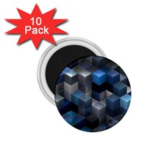 Artistic Cubes 9 Blue 1 75  Magnets (10 Pack)  by MoreColorsinLife