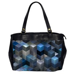 Artistic Cubes 9 Blue Office Handbags (2 Sides)