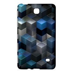 Artistic Cubes 9 Blue Samsung Galaxy Tab 4 (8 ) Hardshell Case  by MoreColorsinLife