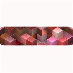 Artistic Cubes 9 Pink Red Large Bar Mats