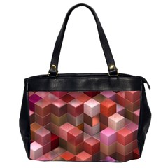 Artistic Cubes 9 Pink Red Office Handbags (2 Sides)