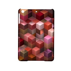 Artistic Cubes 9 Pink Red Ipad Mini 2 Hardshell Cases by MoreColorsinLife