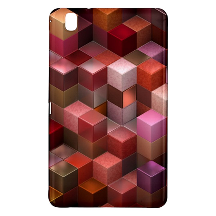 Artistic Cubes 9 Pink Red Samsung Galaxy Tab Pro 8.4 Hardshell Case