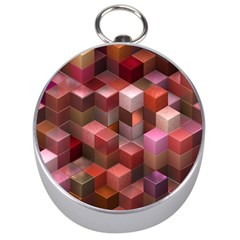 Artistic Cubes 9 Pink Red Silver Compasses by MoreColorsinLife