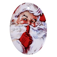 Christmas Santa Oval Ornament (two Sides) by 4SeasonsDesigns
