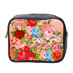 Pretty Sparkly Roses Mini Toiletries Bag 2 Side by LovelyDesigns4U