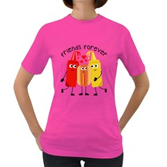 Hotdog And Sauce Women s T Shirt (colored) by 4SeasonsDesigns