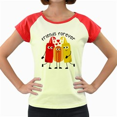 Hotdog And Sauce Women s Cap Sleeve T Shirt (colored)
