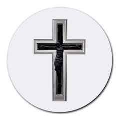 Christian Cross Round Mousepad by igorsin