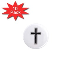 Christian Cross 1  Mini Magnet (10 Pack)  by igorsin