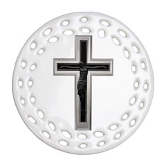 Christian Cross Ornament (round Filigree) by igorsin