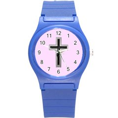 Christian Cross Round Plastic Sport Watch (s) by igorsin