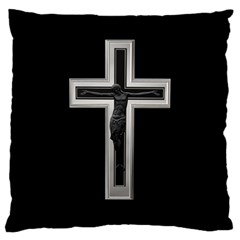 Christian Cross Large Cushion Case (one Side) by igorsin
