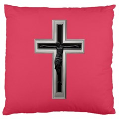 Christian Cross Large Cushion Case (two Sides) by igorsin