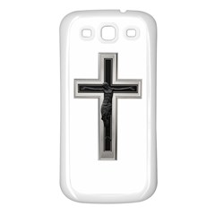 Christian Cross Samsung Galaxy S3 Back Case (white) by igorsin