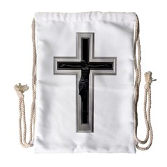 Christian Cross Drawstring Bag (large) by igorsin