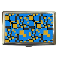 Blue Yellow Shapes Cigarette Money Case by LalyLauraFLM