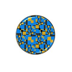 Blue Yellow Shapes Hat Clip Ball Marker