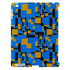 Blue Yellow Shapes Apple Ipad 3/4 Hardshell Case (compatible With Smart Cover) by LalyLauraFLM