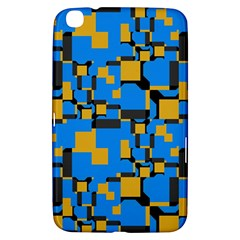 Blue Yellow Shapes Samsung Galaxy Tab 3 (8 ) T3100 Hardshell Case  by LalyLauraFLM