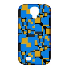 Blue Yellow Shapes Samsung Galaxy S4 Classic Hardshell Case (pc+silicone) by LalyLauraFLM