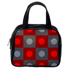 Circles In Squares Pattern Classic Handbag (one Side) by LalyLauraFLM