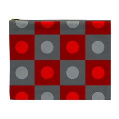 Circles In Squares Pattern Cosmetic Bag (xl) by LalyLauraFLM