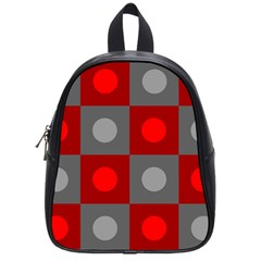 Circles In Squares Pattern School Bag (small) by LalyLauraFLM