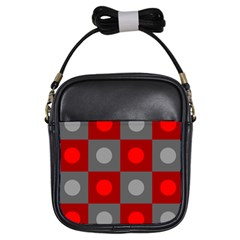 Circles In Squares Pattern Girls Sling Bag by LalyLauraFLM