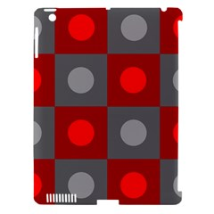 Circles In Squares Pattern Apple Ipad 3/4 Hardshell Case (compatible With Smart Cover) by LalyLauraFLM