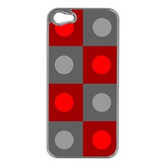 Circles In Squares Pattern Apple Iphone 5 Case (silver) by LalyLauraFLM