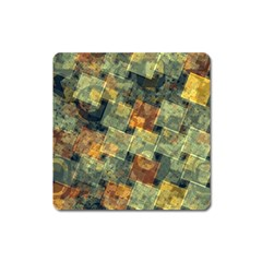 Stars Circles And Squares Magnet (square) by LalyLauraFLM