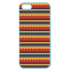 Waves And Stripes Pattern Apple Seamless Iphone 5 Case (color) by LalyLauraFLM