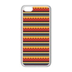 Waves And Stripes Pattern Apple Iphone 5c Seamless Case (white) by LalyLauraFLM