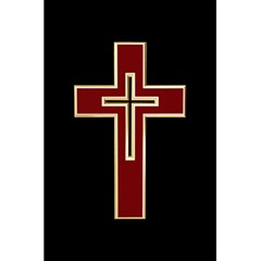 Red Christian Cross 5 5  X 8 5  Notebook by igorsin