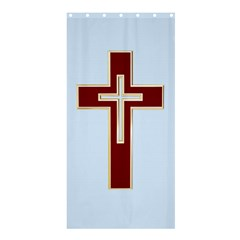 Red Christian Cross Shower Curtain 36  X 72  (stall) by igorsin