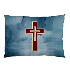 Red Christian Cross Pillow Case (two Sides) by igorsin