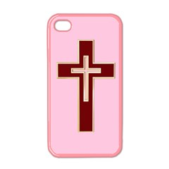 Red Christian Cross Apple Iphone 4 Case (color) by igorsin