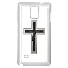 Red Christian Cross Samsung Galaxy Note 4 Case (white) by igorsin