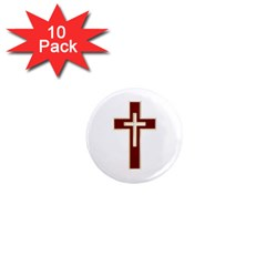 Red Christian Cross 1  Mini Magnet (10 Pack)  by igorsin